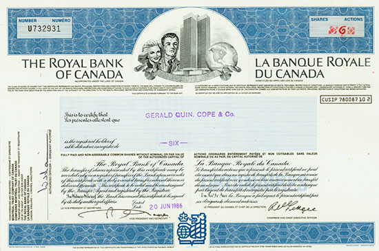 Royal Bank of Canada / Banque Royale du Canada