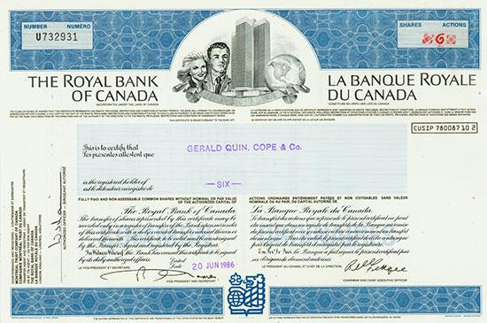 Royal Bank of Canada / Banque Royale du Canada