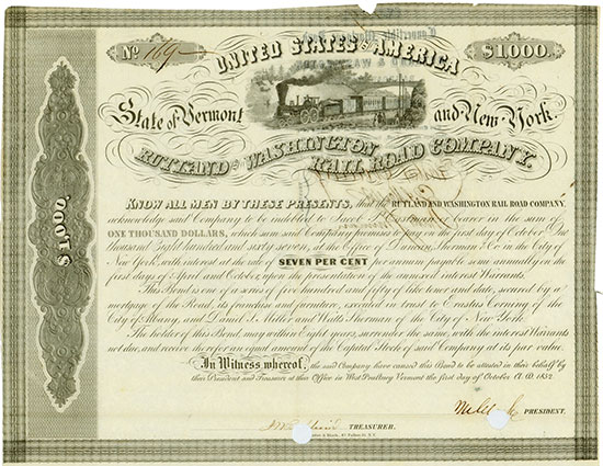 Rutland and Washington Rail Road Company