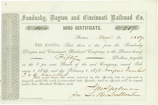 Sandusky, Dayton & Cincinnati Railroad Company