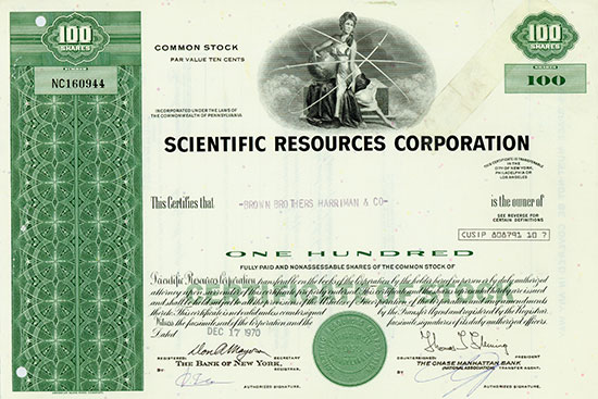 Scientific Resources Corporation [2 Stück]