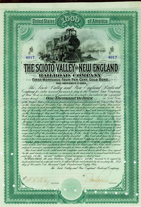 Scioto Valley and New England Railroad Company