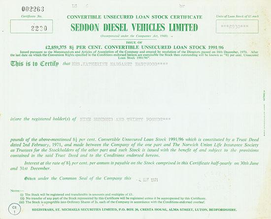 Seddon Diesel Vehicles Limited