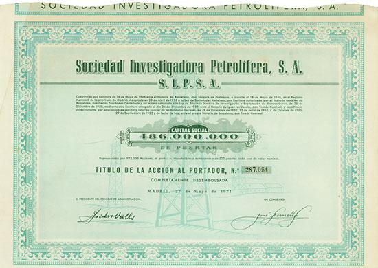 Sociedad Investigadora Petrolifera, S. A. - S.I.P.S.A.