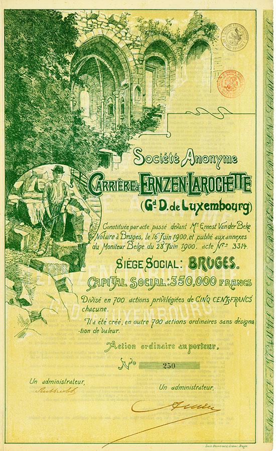 Société Anonyme Carrière d'Ernzen-Larochette (Gd. D. de Luxembourg)