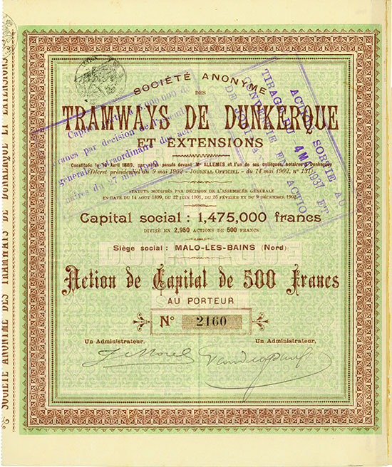 Société Anonyme des Tramways de Dunkerque et Extensions