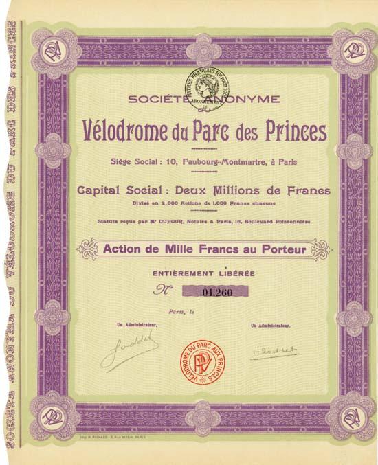Société Anonyme du Vélodrome du Parc des Princes