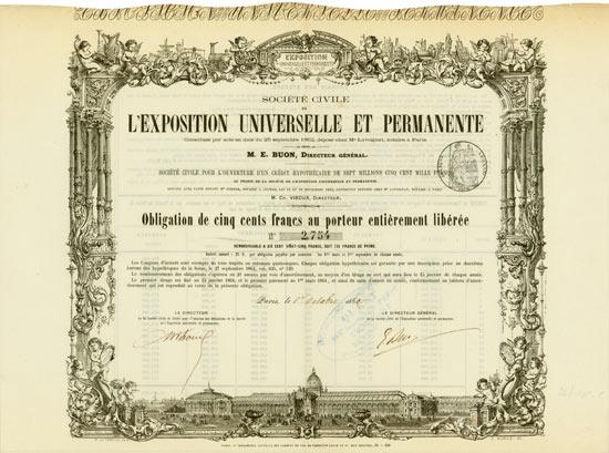 Societé Civile de l'Exposition Universelle et Permanente