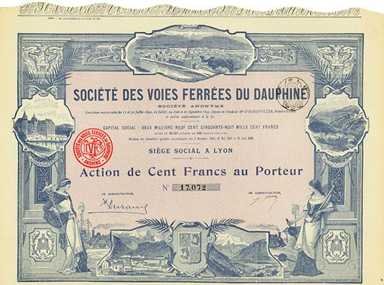Société des Voies Ferrées du Dauphine Société Anonyme