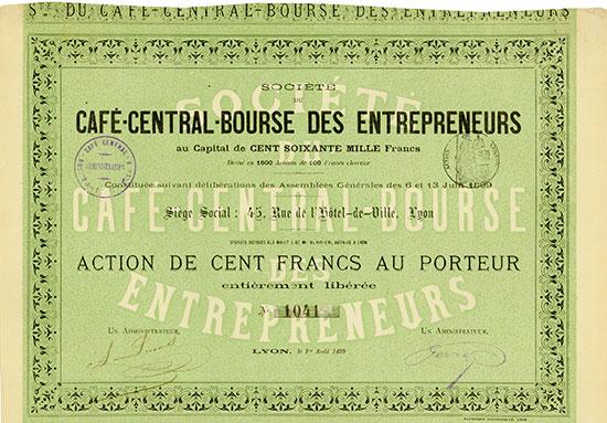 Société du Café-Central-Bourse des Entrepreneurs
