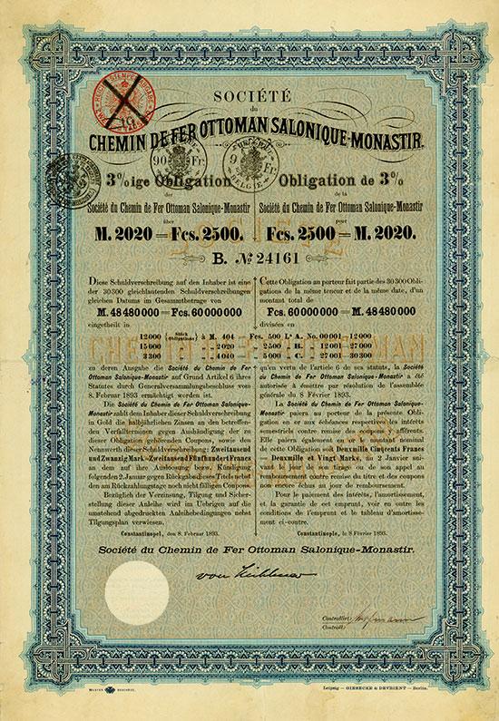 Société du Chemin de Fer Ottoman Salonique-Monastir