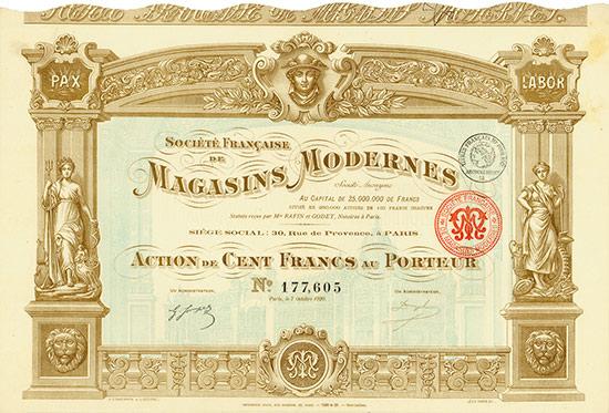 Société Francaise de Magasins Modernes Société Anonyme