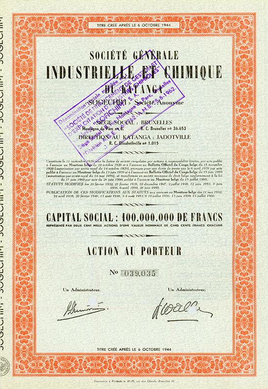 Société Générale Industrielle et Chimique du Katanga