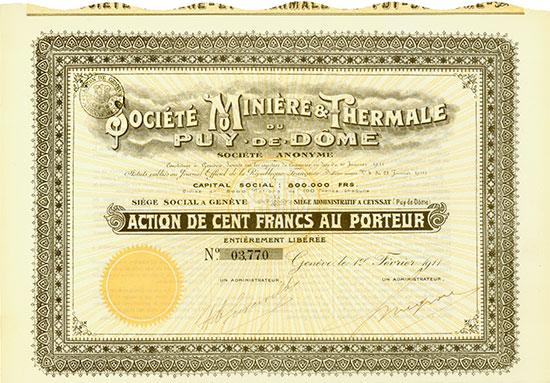 Société Minière & Thermale du Puy-de-Dôme