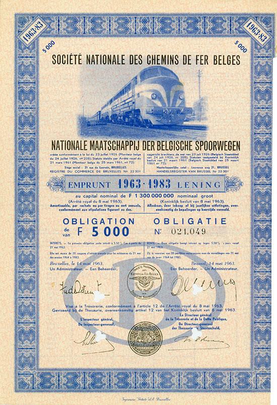 Societe nationale des Chemins de fer belges / Nationale Maatschappij der Belgische Spoorwegen