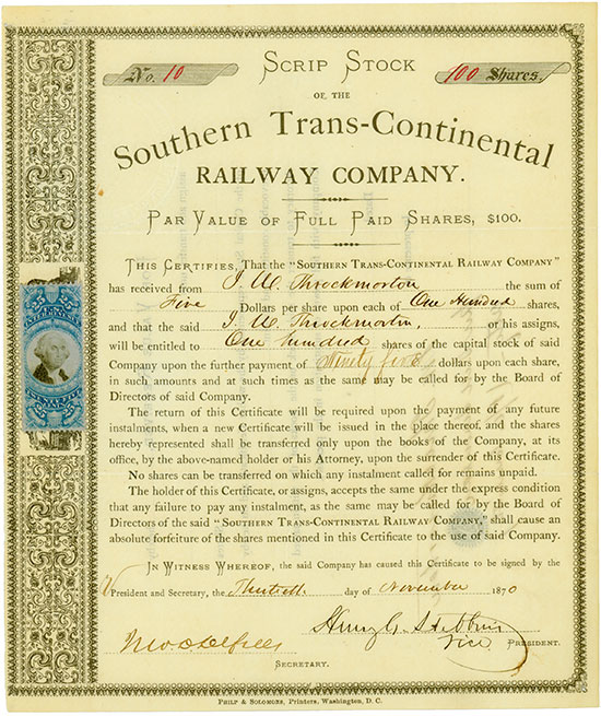 Southern Trans-Continental Railway Company