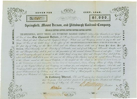 Springfield, Mount Vernon & Pittsburgh Railroad Company