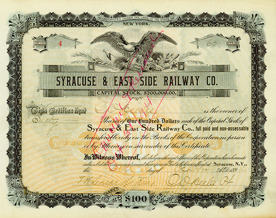 Syracuse & East Side Railway Co.