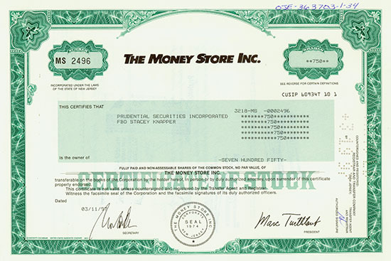 The Money Store Inc.
