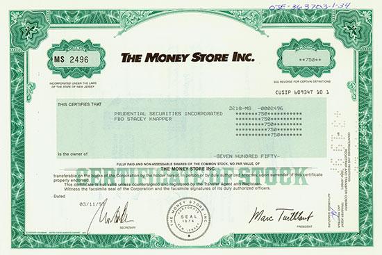The Money Store Inc.