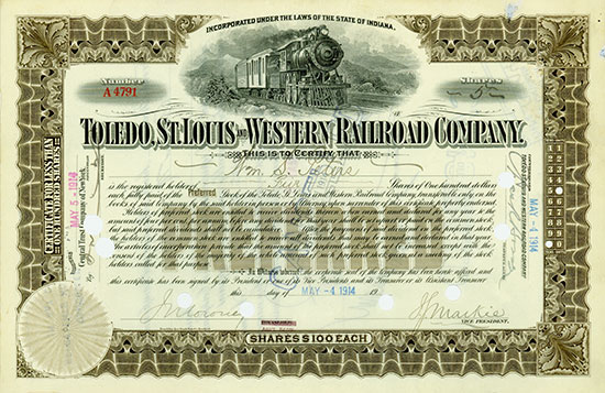 Toledo, St. Louis and Western Railroad Company
