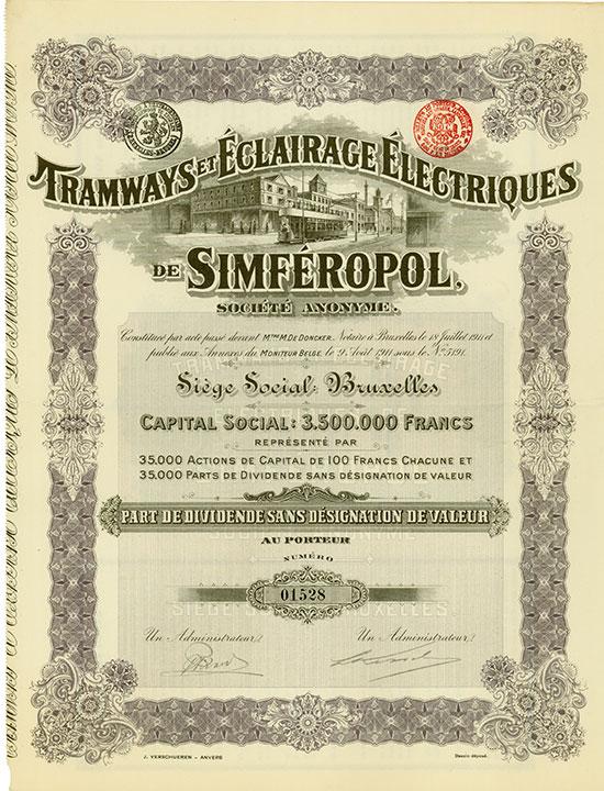 Tramways et Éclairage Électriques de Simféropol Société Anonyme
