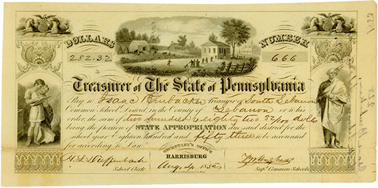 Treasurer of the State of Pennsylvania - School Department Harrisburg