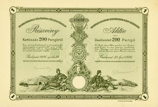Ungarische Allgemeine Kohlenbergbau AG / Magyar általános köszénbánya részvény-társulat