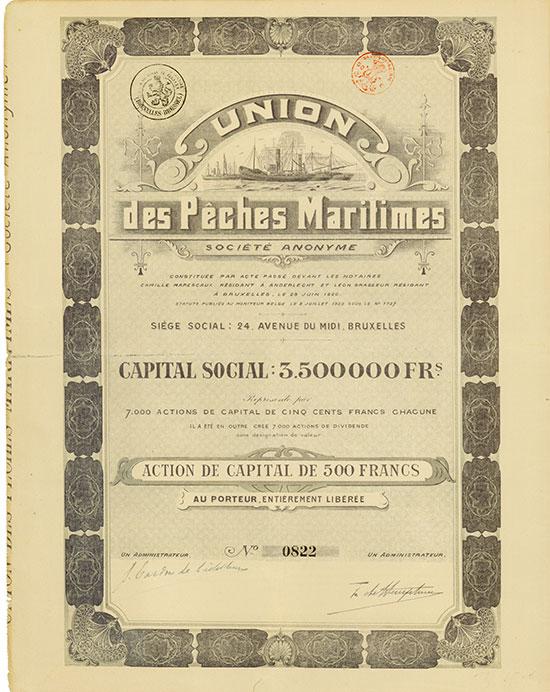 Union des Pêches Maritimes Société Anonyme