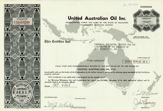 United Australian Oil Inc.