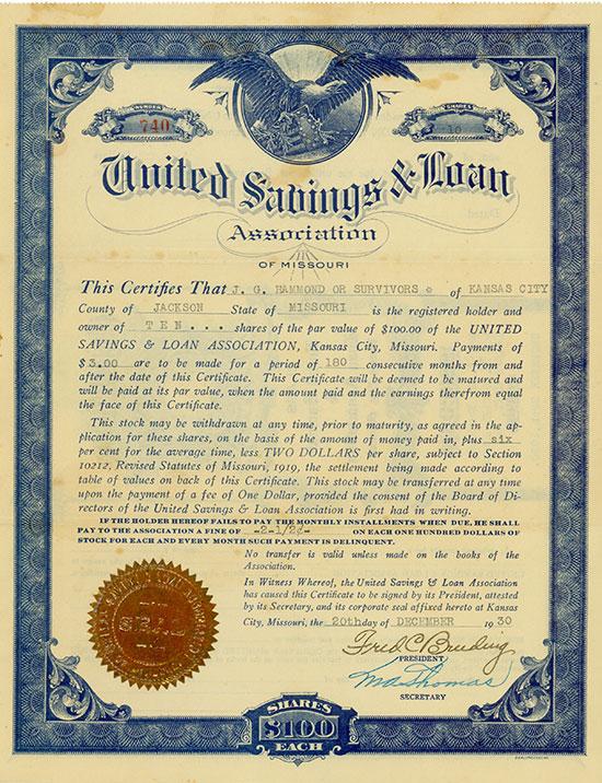 United Savings & Loan Association of Missouri