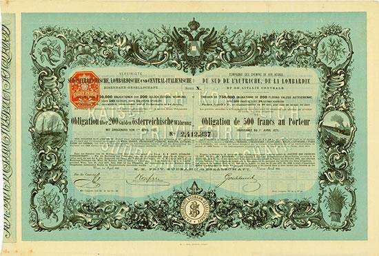 Vereinigte Südösterreichische, Lombardische und Central-Italienische Eisenbahn-Gesellschaft / K. k. priv. Südbahn-Gesellschaft