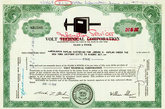 Volt Technical Corporation (Volt Information Services)