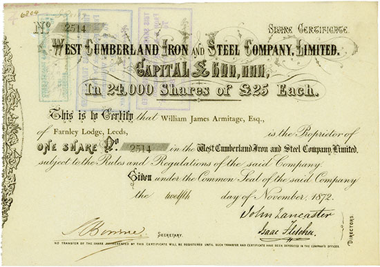 West Cumberland Iron and Steel Company, Limited