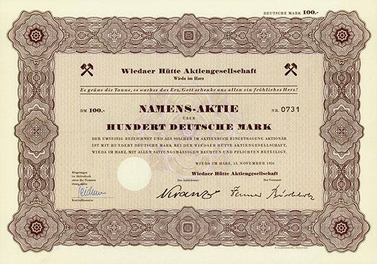 Wiedaer Hütte AG