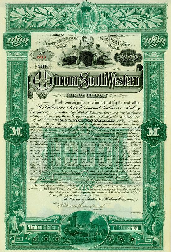 Winona and Southwestern Railway Company