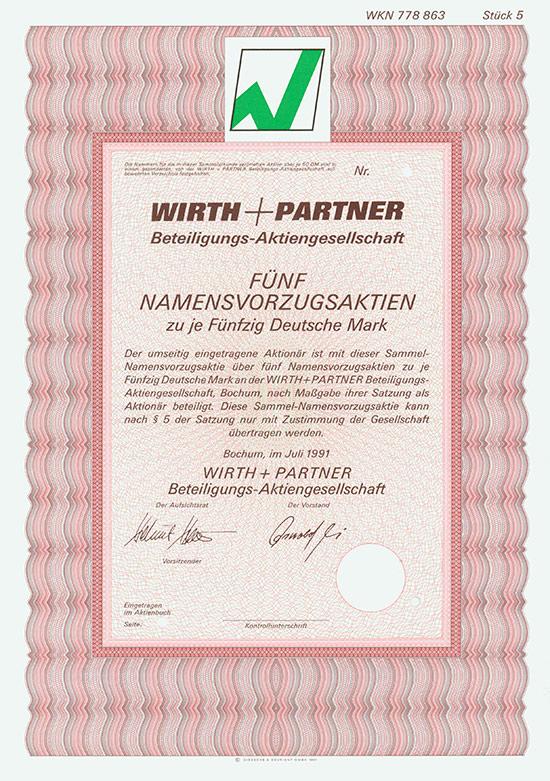Wirth + Partner Beteiligungs-AG