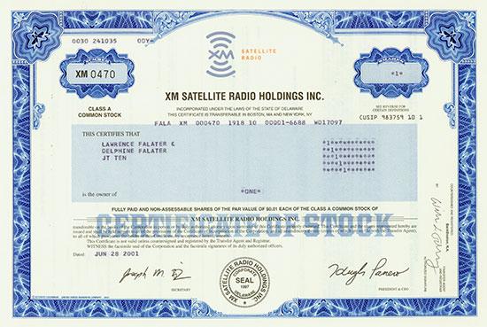XM Satellite Radio Holdings Inc.