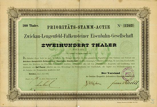 Zwickau-Lengenfeld-Falkensteiner Eisenbahn-Gesellschaft