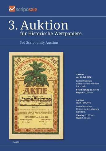 Cover Auktionskatalog 3. Auktion